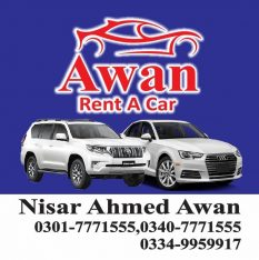 Awan Rent a Car Lahore