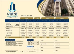 SERENE APARTMENT LAHORE